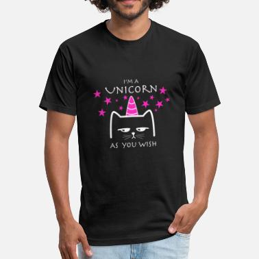 Unicorn Cat Cat Unicorn - Fitted Cotton/Poly T-Shirt by Next Level