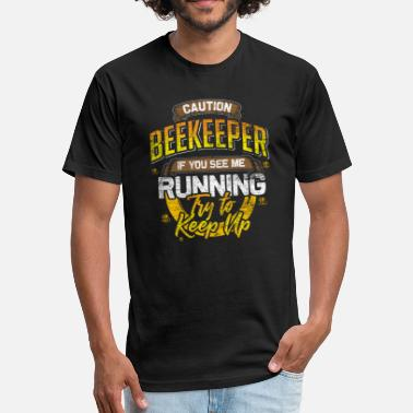 Caution Beekeeper Caution Beekeeper - Fitted Cotton/Poly T-Shirt by Next Level