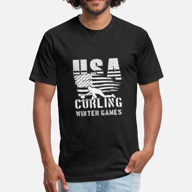 Usa Ski Team USA Curling Winter Games - world team sport - Fitted Cotton/Poly T-Shirt by Next Level