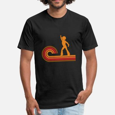 Disco Dancer Silhouette Retro Style Disco Dancer Silhouette Disco - Fitted Cotton/Poly T-Shirt by Next Level