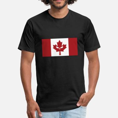 Canadian Skull Flag - Fitted Cotton/Poly T-Shirt by Next Level