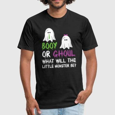 Booy or Ghoul What Will The Little Monster Be - Fitted Cotton/Poly T-Shirt by Next Level