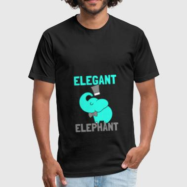 Elegant Elephant - Fitted Cotton/Poly T-Shirt by Next Level
