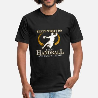 Handbal handball - Fitted Cotton/Poly T-Shirt by Next Level