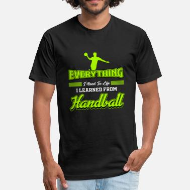 Handball-sports Handball Ball Sports Handball Gift - Fitted Cotton/Poly T-Shirt by Next Level