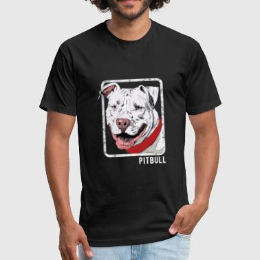 Head Pitbull Dog Dogs - Pitbull - Fitted Cotton/Poly T-Shirt by Next Level
