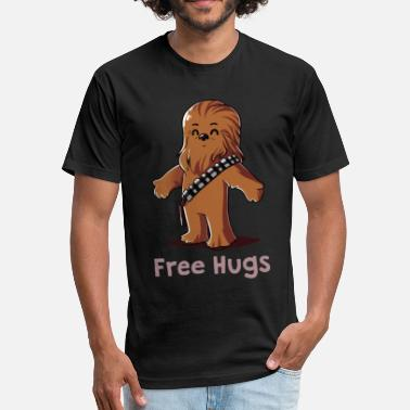 That Wookiee Hug a Wookiee - Fitted Cotton/Poly T-Shirt by Next Level