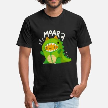 Chibi Dinosaur dinosaur - Fitted Cotton/Poly T-Shirt by Next Level