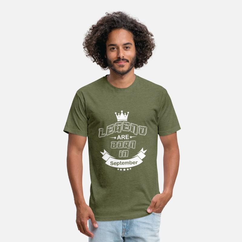 396ae145 Legend are born september Unisex Poly Cotton T-Shirt   Spreadshirt