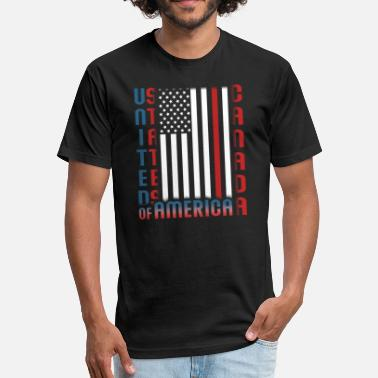 Half Canadian Half American Half USA Half Canadian - Fitted Cotton/Poly T-Shirt by Next Level