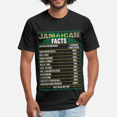 Jamaican Jamaican Facts Tshirt - Fitted Cotton/Poly T-Shirt by Next Level