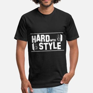 Hard Bass Rave Wear Hard with Style Shirt for Music Lover Gift Idea - Fitted Cotton/Poly T-Shirt by Next Level