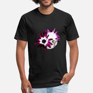 Skulls Flowers Flowering Skull - Fitted Cotton/Poly T-Shirt by Next Level