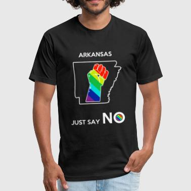 Arkansas - Arkansas -- Just Say No - Fitted Cotton/Poly T-Shirt by Next Level