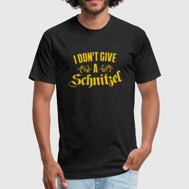 Schnitzel - I Don't Give A Schnitzel - Fitted Cotton/Poly T-Shirt by Next Level