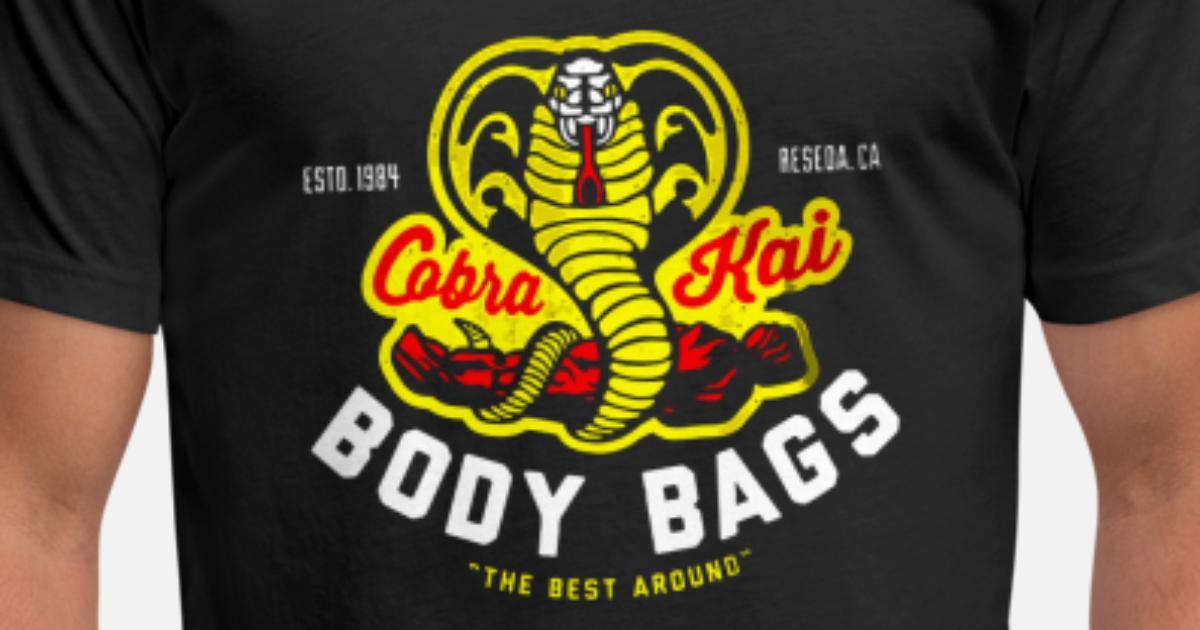 Cobra Kai Shirt: Cobra Kai Body Bags Unisex Poly Cotton T-Shirt