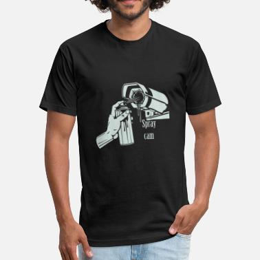 Cam Sports Spray cam - Spray cam - Fitted Cotton/Poly T-Shirt by Next Level