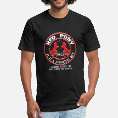 Red Cafe Red pony cafe - It is a beautiful day - Fitted Cotton/Poly T-Shirt by Next Level