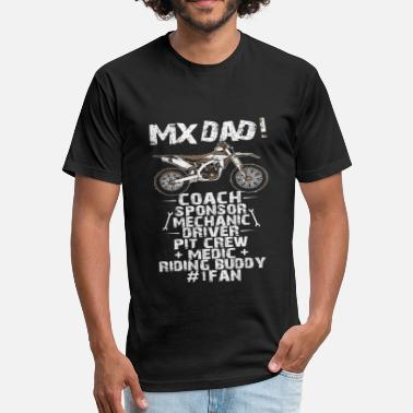 Mx MX DAD - MX DAD - Fitted Cotton/Poly T-Shirt by Next Level