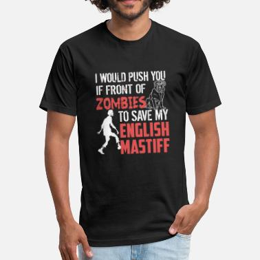 English Mastiff English mastiff - english mastiff - save my eng - Fitted Cotton/Poly T-Shirt by Next Level