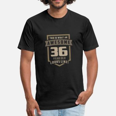 36 Years Old Awesome 36 Years Old - Fitted Cotton/Poly T-Shirt by Next Level