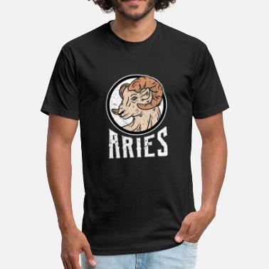 Zodiac Aries Astrology Zodiac star sign Aries astrology - Fitted Cotton/Poly T-Shirt by Next Level
