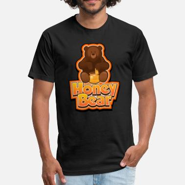 Honey Bear Honey Bear - Fitted Cotton/Poly T-Shirt by Next Level