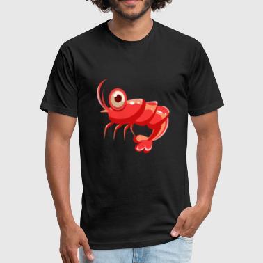 Shrimp fresh seafood plankton food delicacy art - Fitted Cotton/Poly T-Shirt by Next Level