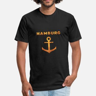 Kietz Hamburg Gold - Fitted Cotton/Poly T-Shirt by Next Level