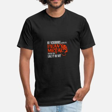 Heavy Metal Rules Heavy Metal - Fitted Cotton/Poly T-Shirt by Next Level