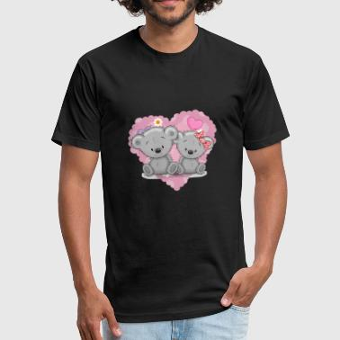 Teddybear - Fitted Cotton/Poly T-Shirt by Next Level