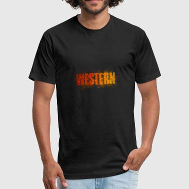 Western - Fitted Cotton/Poly T-Shirt by Next Level