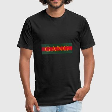 Red Gold Green GANG - luxury - red green gold - Fitted Cotton/Poly T-Shirt by Next Level