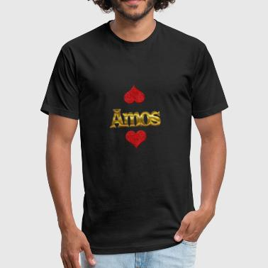 Amos - Fitted Cotton/Poly T-Shirt by Next Level