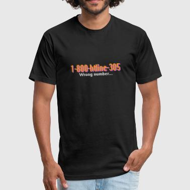 1-800-hotline 1-800-Hotline-Miami - Fitted Cotton/Poly T-Shirt by Next Level