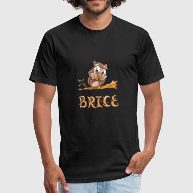 Brice Brice Owl - Fitted Cotton/Poly T-Shirt by Next Level