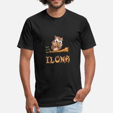 Ilona Ilona Owl - Fitted Cotton/Poly T-Shirt by Next Level