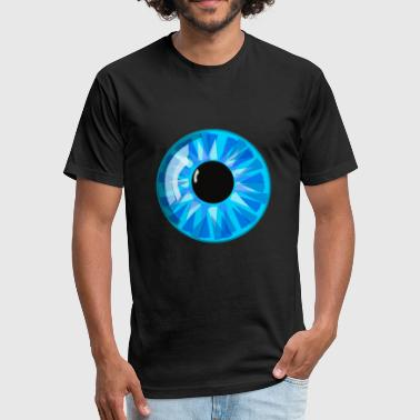 Big eye - Fitted Cotton/Poly T-Shirt by Next Level