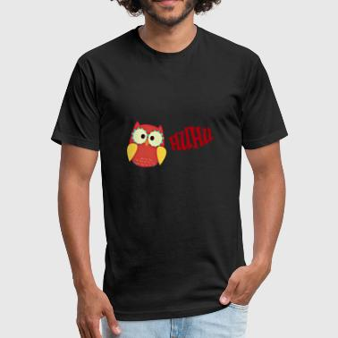 Huhu Eagle Owl Gift Idea - Fitted Cotton/Poly T-Shirt by Next Level