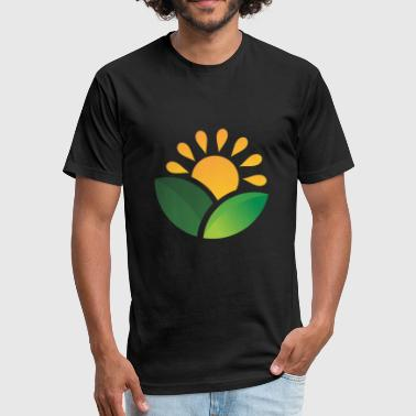 Obscure Sunrise Obscured Leaves - Fitted Cotton/Poly T-Shirt by Next Level