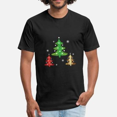 Women's Christmas Tree Christmas Tree - Fitted Cotton/Poly T-Shirt by Next Level