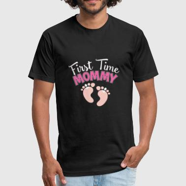 First Time Mother Mother - first time mommy pregnancy announcement - Fitted Cotton/Poly T-Shirt by Next Level