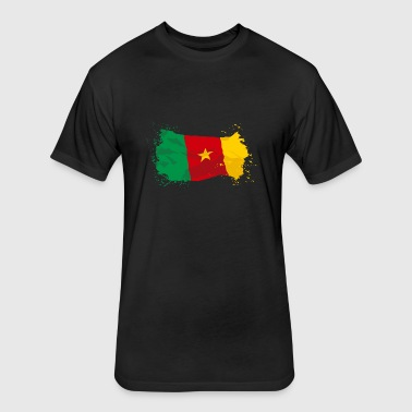 Cameroon Flag - Fitted Cotton/Poly T-Shirt by Next Level