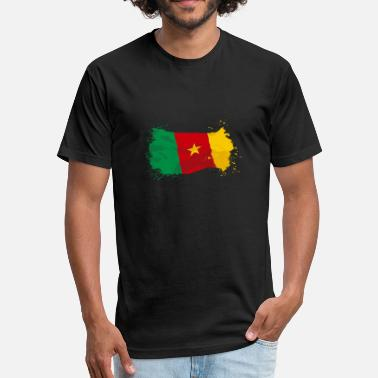 Cameroon Flag Cameroon Flag - Fitted Cotton/Poly T-Shirt by Next Level