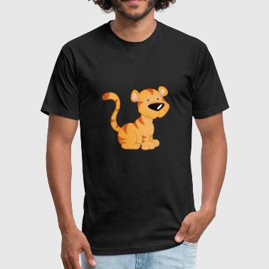 cute baby tiger - Fitted Cotton/Poly T-Shirt by Next Level