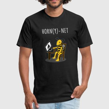 Filthy Erotic The Porn Hornet - Fitted Cotton/Poly T-Shirt by Next Level