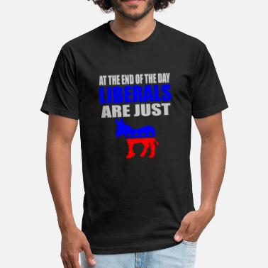 Liberal Savage Republican - anti liberal democrat | pro republi - Fitted Cotton/Poly T-Shirt by Next Level