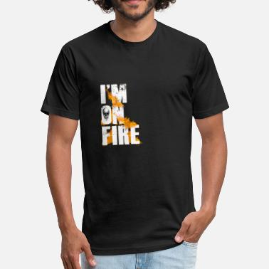 Im On Fire Im on Fire white T-shirt design - Fitted Cotton/Poly T-Shirt by Next Level