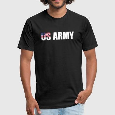 US ARMY - Fitted Cotton/Poly T-Shirt by Next Level