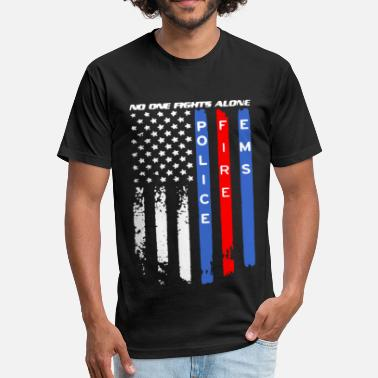 Fire Police Ems Police Fire EMS Shirt - Fitted Cotton/Poly T-Shirt by Next Level
